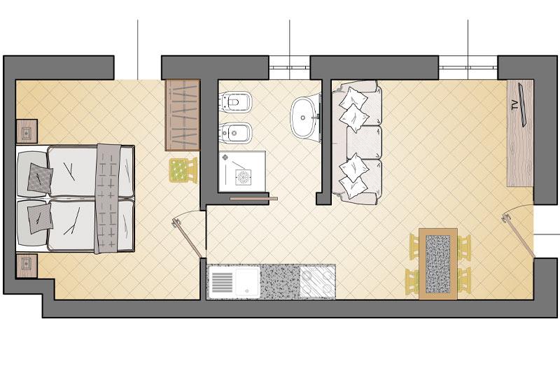 Doccia Doppia Entrata: Campacc jolly appartamenti livigno.